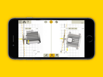 Pulley Alignment Tool XT190 on IOS APP