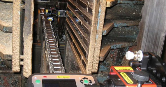 sawmill alignment and measurement system E9803