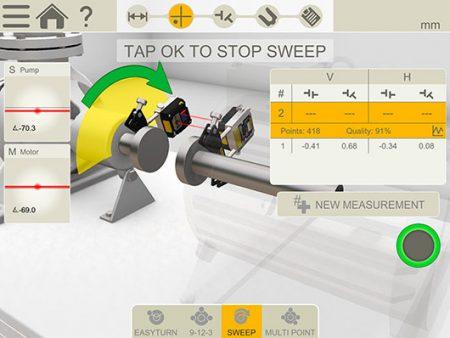 sweep method shaft alignment