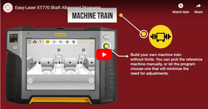 Easy laser xt770 shaft alignment programs video